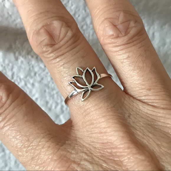 Jewelry New Sterling Silver Cut Out Lotus Flower Ring Poshmark